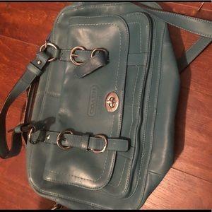 Leather coach bag